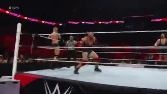 Sheamus & Big Show vs Ryback & Randy Orton - Wwe Raw 13072015
